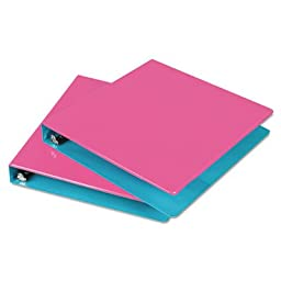 Fashion Two-Tone Round Ring View Binder, 1-1/2\