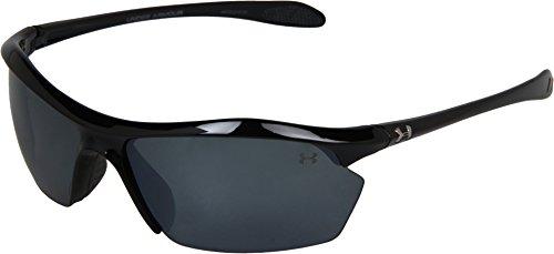Under Armour Zone XL Polarized Sunglasses, Shiny Black Frame/Gray Polarized Multiflection Lens, One Size