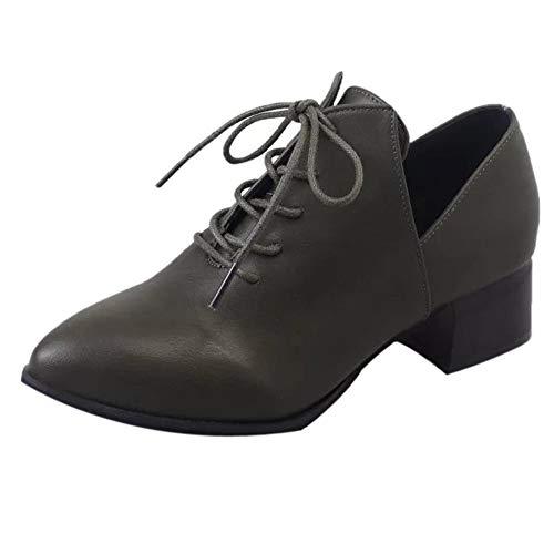 boots Tacco autunno Casual invernali Donna Stivaletti up Scarpa Lace Tacchi Corto Stivale Moda Con Basso Verde Scarpe Flat Da ragazza Scarpe Shoes Singole Alti Bazhahei Uwqp1p