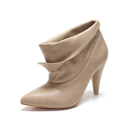- MACKIN J 239B-9 Womens Slouch Ankle Boots Retro Folded (9, Taupe)