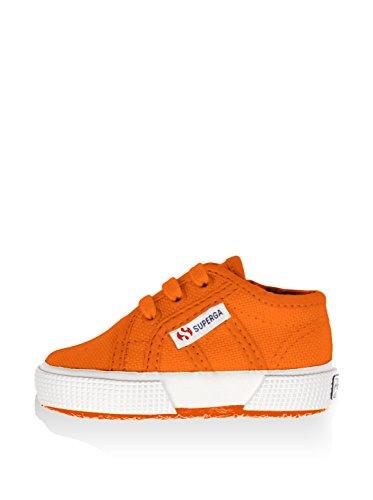 Superga 2750 Bebj Baby Classic - Zapatillas de deporte de tela para niños Arancione (Hot Orange)