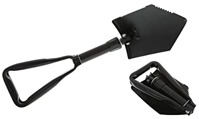 SE 8791FSP Emergency Disaster Tri-Fold Survival Shovel Serrated with Free Carrying Case by SE