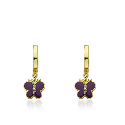 Enamel Butterfly Earrings - 1