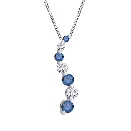 7 Pendant Diamond Stone Journey (Blue and White Diamond