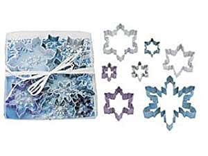 7pc Snowflake Cookie Cutter Set - Polyresin