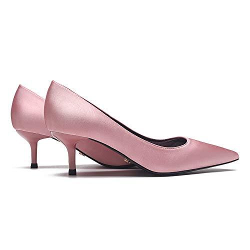 Cinque Da Con Da Tacchi Stiletto Tacchi Alti Naked Pink alti Donna Centesimi Blu Yukun Punte P0qURRT
