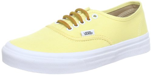 Vans Authentic Slim VN-0QEV7GT (Brushed Twill) Yellow Shoes US Men s Size  8.5 853049ebb