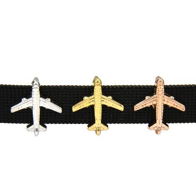 Watch - Jewelry Keys Air Plane Airplane Slide Charms Keeper for Stainless Steel Mesh Keeper Bracelets Accessories Making