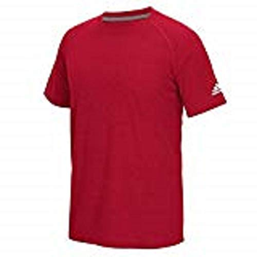 Adidas Men's Climalite Ultimate Short Sleeve T-Shirt Power Red Medium Adidas Short Sleeve T-shirt
