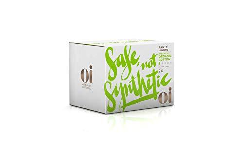 Oi Organic Cotton Panty Liners - Ultra Thin 24 Count - Organic Pure Cotton Ultra Thin Panty Liners...