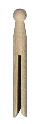 RAYHER 6400500 Rundkopf-Wäscheklammern, 11 cm, Beutel 50 Stück