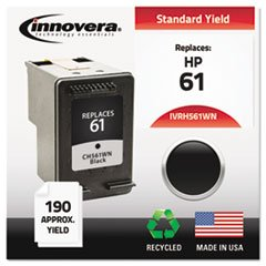 – Remanufactured CH561WN (61) Ink, 200 Page-Yield, Black