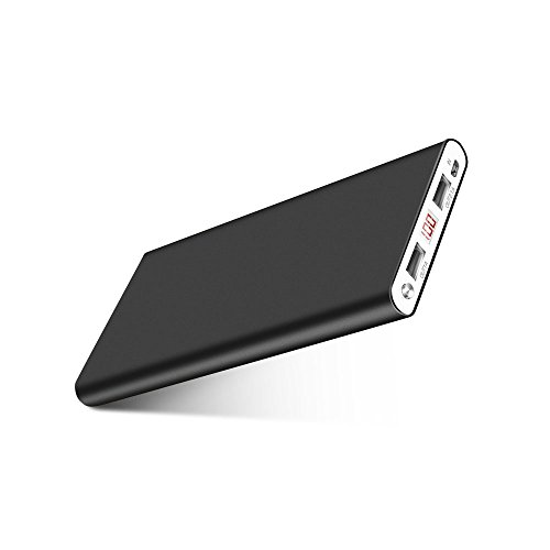 Fritesla 16000mah Power Bank Ultra Slim External Battery with 2 USB Ports Portable Charger Pack for iPhoneX 8 7 6s...