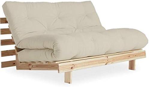 KARUP Sofá Convertible Estilo escandinavo Roots Natural futón Topo Dormir 140 * 200 cm: Amazon.es: Hogar