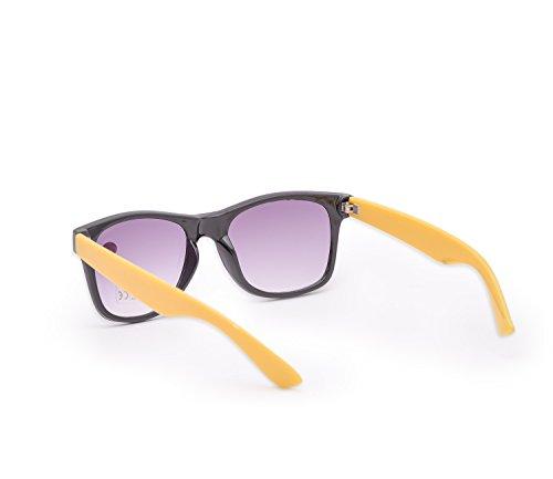 gafas Mujer Estilo UV400 lectura gafas 5 de 1 Side Reader sol Unisex nbsp;marrón sol carey lectores 4sold marca de de 4sold UV Yellow hombre para nbsp;fuerza qaY6TY