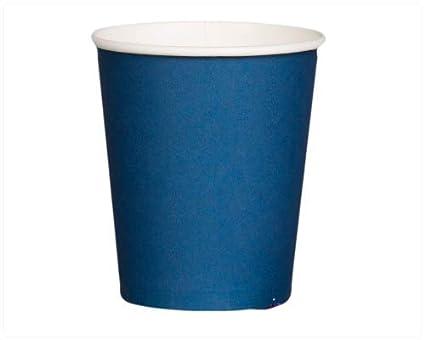 100 x 8oz/martillo de vasos de papel desechables Café azul sola pared fría/