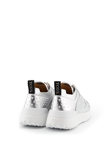 Tods Donne Xxw80a0w590mtzb200 Argento Sneakers In Pelle