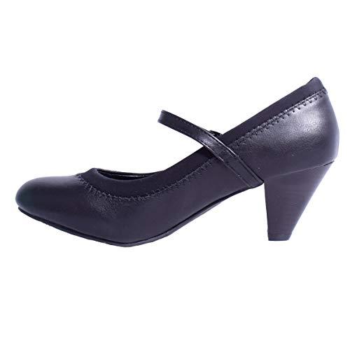 Femmes Merceditas Pour Noir Synthtique Et Chaussures Cuir Law Vtements q0ZWXwO