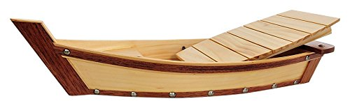 Old Modern Handicrafts Q059 Wooden Sushi Boat Serving Tray Small by Old Modern Handicrafts