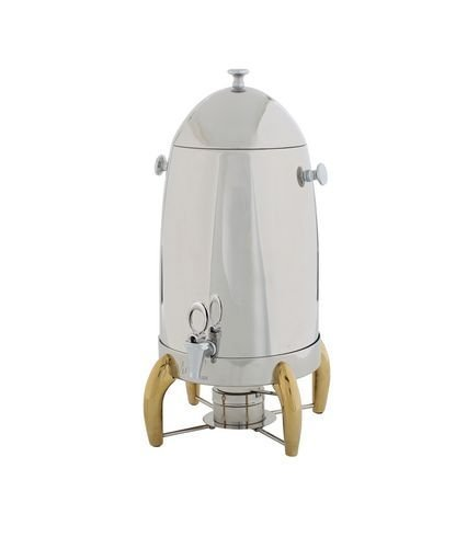 Winco 905A Virtuoso Coffee Urns with Gold Legs, 5-Gallon