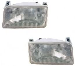Newmar Dutch Star 1999-2001 RV Motorhome Pair (Left & Right) Replacement Front Headlights with Bulbs