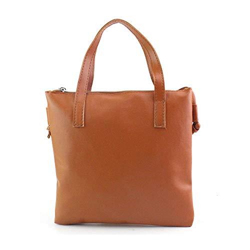 LiPing 8.8in Multipurpose Handbag Shoulder Bag Large Tote Ladies Purse Desktop Stationery Pot Desk Organizer For Student School (US shipment, Brown)