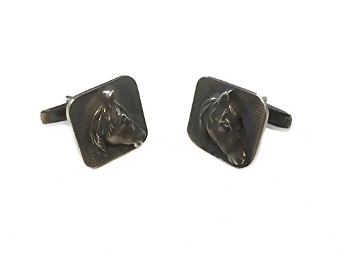 Wild Mexican Horse Handmade Cufflinks Solid Sterling Silver 925 By EZI Zino