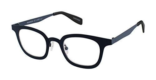 Pearson Street - Rounded Square Trendy Fashion Reading Glasses for Men and Women - Atlantic Blue (+1.75 Magnification Power) (Reading Street Glasses Scojo)