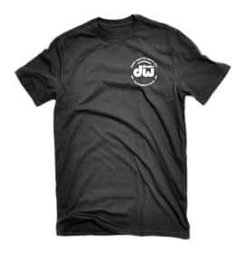 DW Drum Workshop Short Sleeve Tee, Heavy Cotton, Black with DW  Logo, XXXL