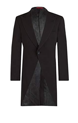 - Dobell Mens Black Morning Suit Tailcoat Regular Fit Peak Lapel Classic Wedding Jacket-54S