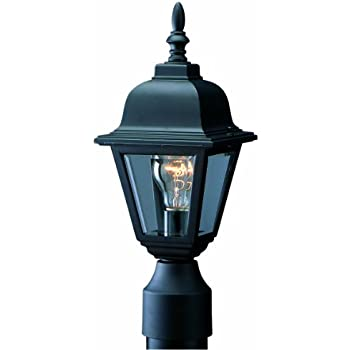 Design House 507509 Maple Street Indoor/Outdoor Post Light, Black