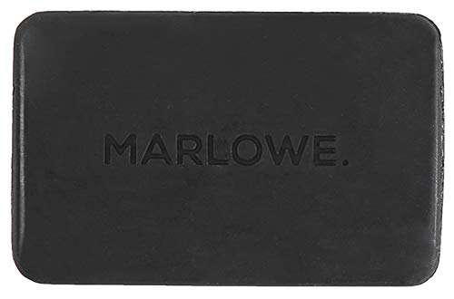 MARLOWE. Charcoal Face & Body Soap Bar No. 106 (7oz) | Best Cleansing & Detoxifying Bar for Men | Made with Natural Ingredients | Shea Butter & Willow Bark Extract | Amazing Scent