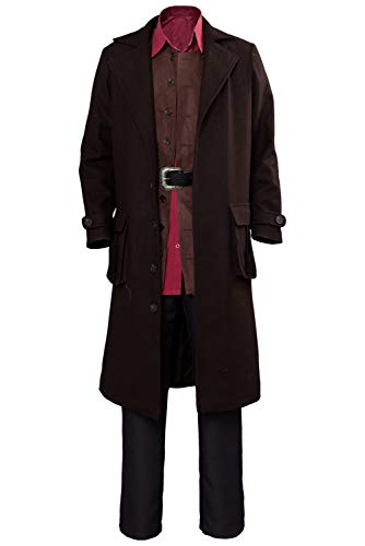 COSMOVIE Adult Halloween Costumes Men's Role Play Outfits Jacket Full Suit Wizard Cosplay Costume]()