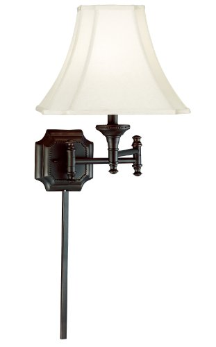 Burnished Bronze Lamp Wall (Kenroy Home 33054BBZ Wentworth Wall Swing Arm Lamp, Burnished Bronze)