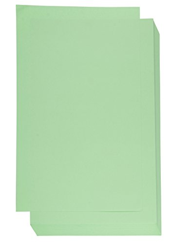 Colored Paper - 60-Count 8.5 x 14 Legal Size Heavyweight Paper for Brochure, Invitation, Scrapbooking, Inkjet and Laser Printers Compatible, 150GSM, Green