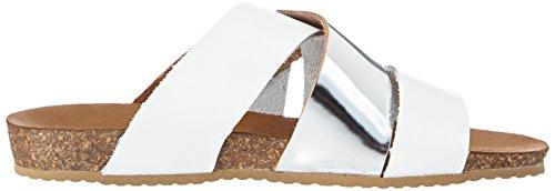 Jana 27105 - Sandalias de vestir de cuero para mujer blanco - Weiß (WHITE)