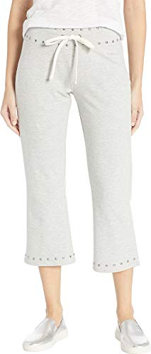 bebe Womens Studded Flare Capris Pants Heather Grey SM 24