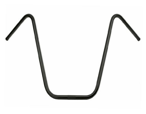 """Alta Ape-Hangers Bicycle 22.2mm Handle Bars, Multiple Sizes and Colors (Black, 19"""")"""