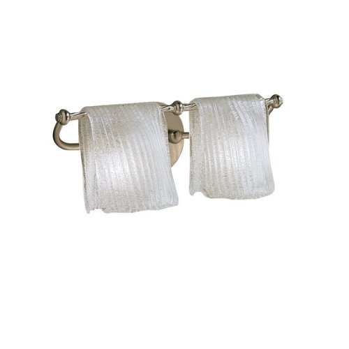 Kichler Drapes (6312NI Drapes 2LT Vanity Fixture, Brushed Nickel Finish with Clear Ice Glass by Kichler Lighting)