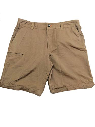 Orvis Men's Castaway Classic Fit Traveler Pocket Shorts (Khaki, ()