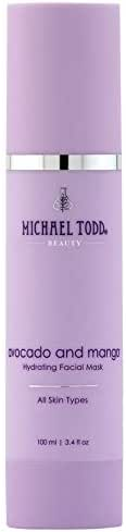 Michael Todd Avocado and Mango Hydrating Facial Mask for All Skin Types, 3.4 Fl Oz
