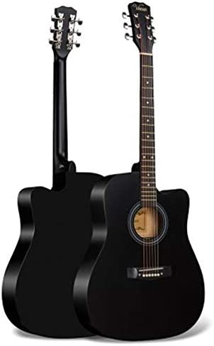 クラシックギター 初心者ギター練習フォークギターウッドギター初心者入門します プレイしやすいです (色 : Black, Size : 41 inches)
