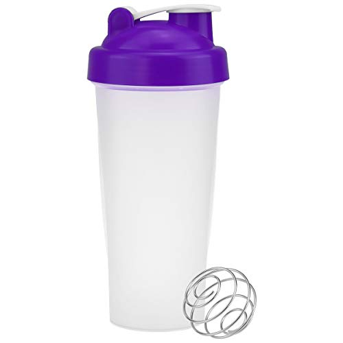 VIGIND 22 OZ Protein Shaker Bottle with Lock Storage, 100% BPA-Free Leak Proof Fitness Sports Nutrition Supplements Non-Slip Mix Shake Bottle