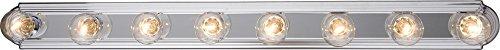 - Maxim Lighting 7128PC Essentials - 712x-Bath Vanity Essentials 8-Light Bath Vanity