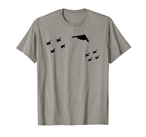 Used, USA Warplane Flying Formation B2 Stealth Bomber Shirt for sale  Delivered anywhere in USA