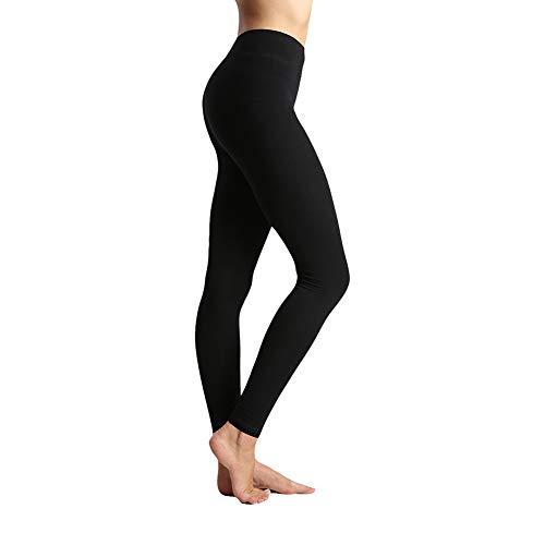- Women's High Waist Leggings-Super Soft Slim Pants -One/Plus Size 20+ Design (Black, Plus Size (US 12-14))