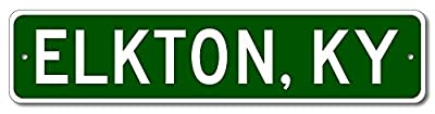 Custom Aluminum Sign ELKTON, KENTUCKY US City and State Name Sign