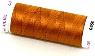 each Mettler No 50 Silk Finish Cotton Quilting Thread 150m 150m 658 Brass