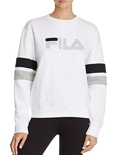 Fila Women's Michele Pullover Crewneck Sweatshirt (XL, White) from Fila