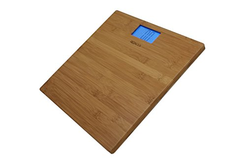 Modern Bamboo Weighing Body Scale 2016 Product 400 Pounds Wood Decor for Bath, Kitchen and Living Room by Red Rock (Image #3)